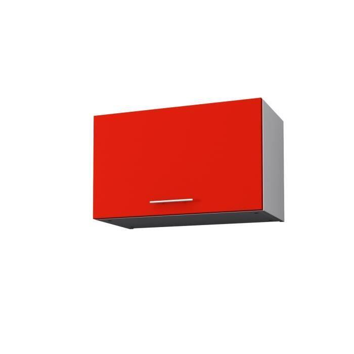 OBI Meuble hotte L 60 cm - Rouge mat