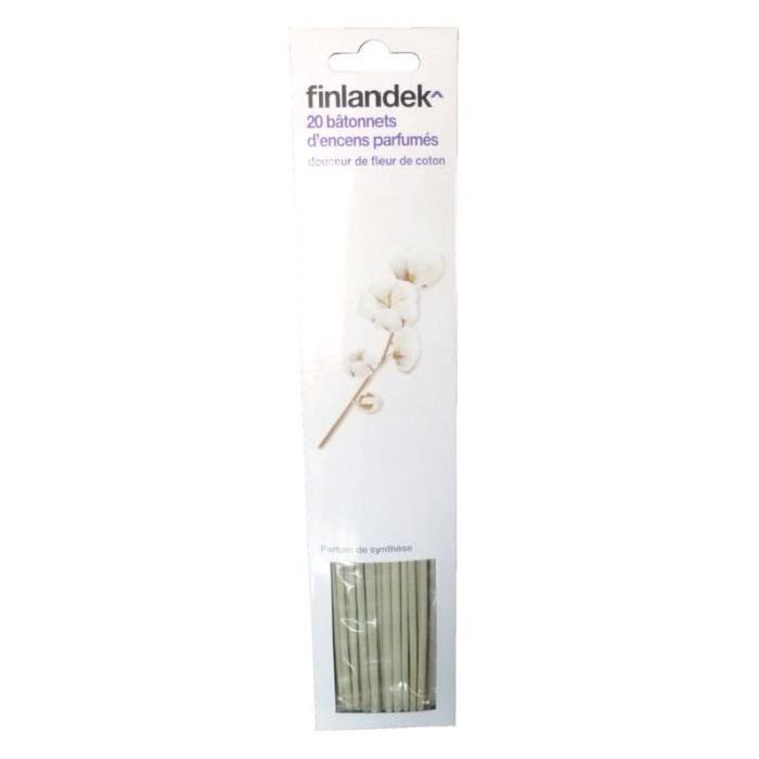 FINLANDEK 20 Batons d'Encens Parfum Doux Coton - Beige
