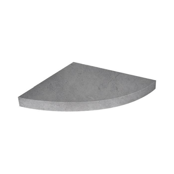 Etagere d'angle flottante béton ciré 25 x 22,8 cm