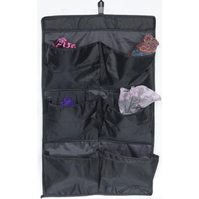 EVE Organisateur porte 6 pochettes noir 36x60 cm