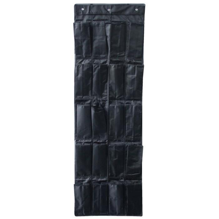EVE Rangement chaussure 20 paires noir 44x30x120 cm