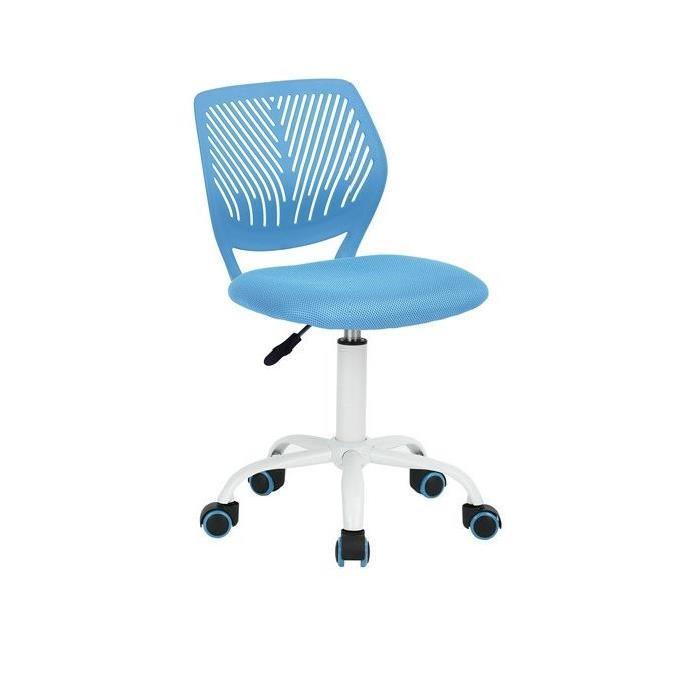 CARNA Chaise de bureau - Tissu maille bleu - Style contemporain - L 40 x P 44 cm