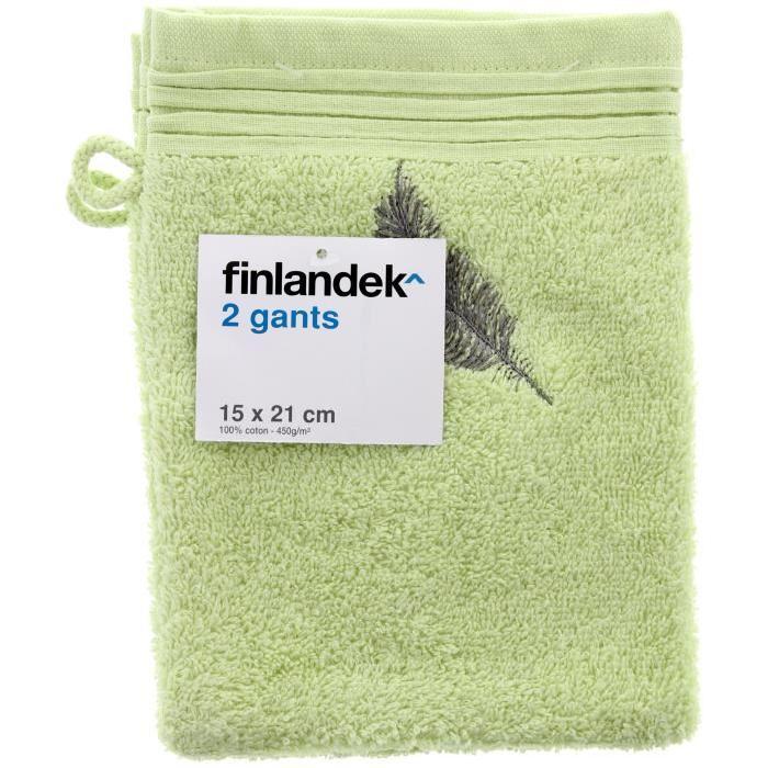 FINLANDEK X2Gants 15X21 Plumes