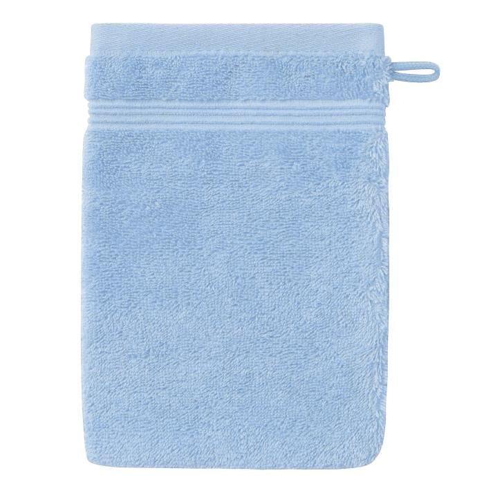 SANTENS Gant de Toilette  GRACE Ice Bleu 16 x 22 cm