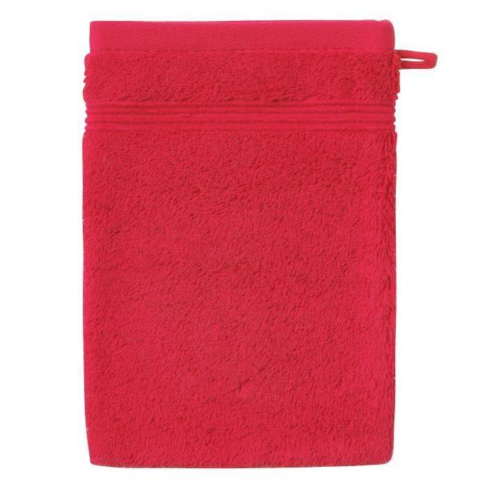 SANTENS Gant de Toilette  GRACE Lipstick Rouge 16 x 22 cm