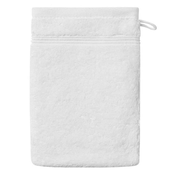 SANTENS Gant de Toilette  GRACE Blanc 16 x 22 cm