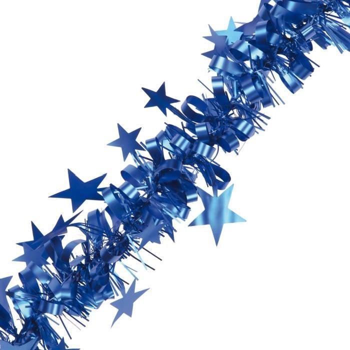 Guirlande de Noël intérieure Étoiles Bleu L 2,7 m