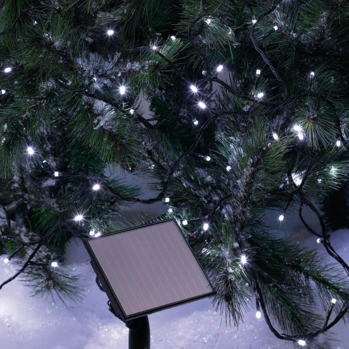Guirlande Solaire lumineuse intérieure blanche 5 m