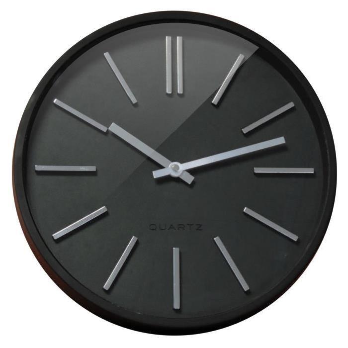 GOMA Horloge silencieuse Ř35 cm noir