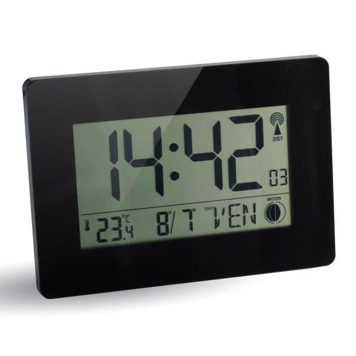 AUSTIN Horloge RC digitale 23x16 cm blanc