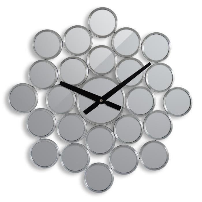 IMMANENCE Horloge murale miroir Ř37cm