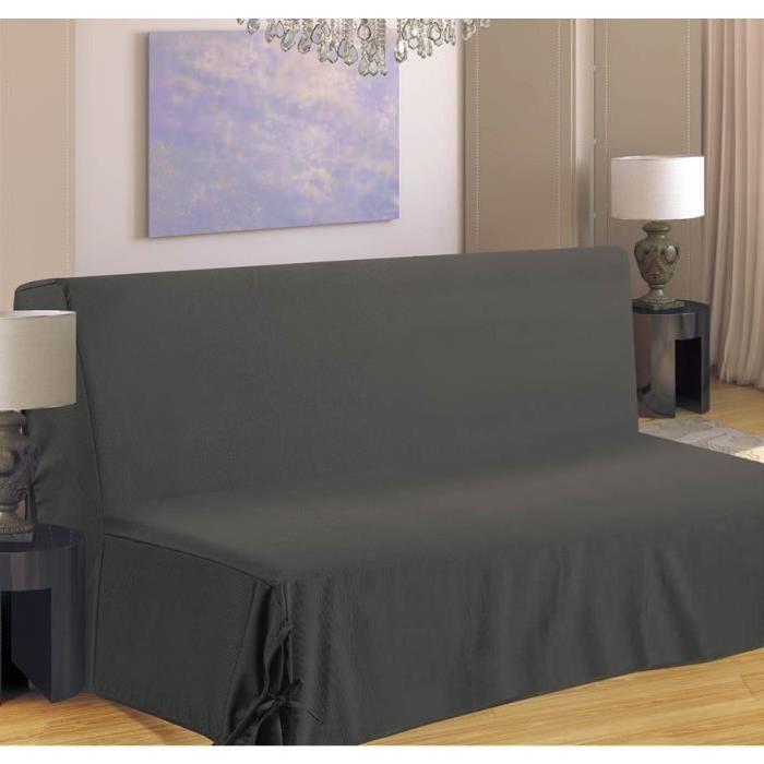 Housse de canapé BZ 140x190 cm gris