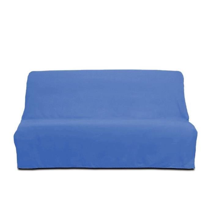 SOLEIL D'OCRE Housse clic-clac en coton Panama - Bleu