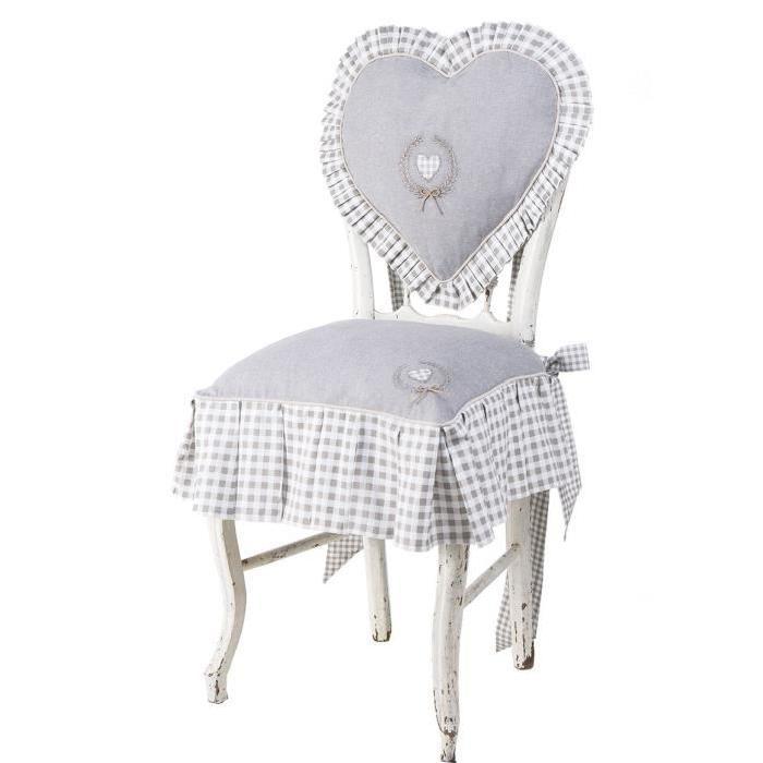 DEKOANDCO Petite housse de chaise Catherinette