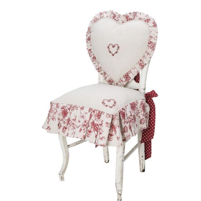 DEKOANDCO Petite housse de chaise Audalice