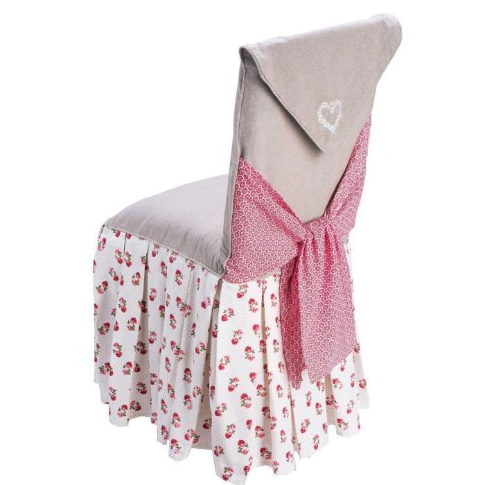 DEKOANDCO Grande housse de chaise Rosa