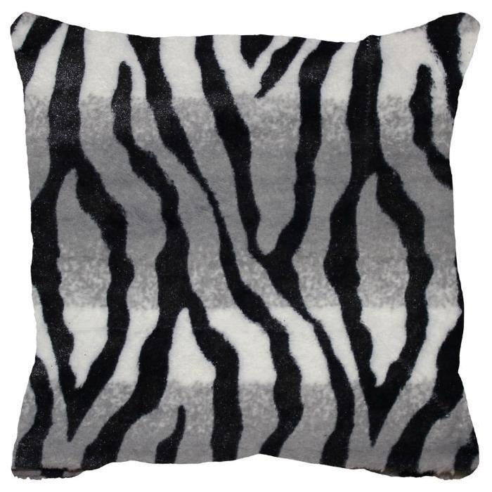 Housse de coussin + zip Congo zebre 40 cm