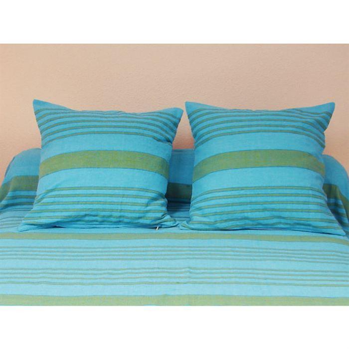 SOLEIL D'OCRE Housse de coussin OLYMPE Turquoise 40x40cm