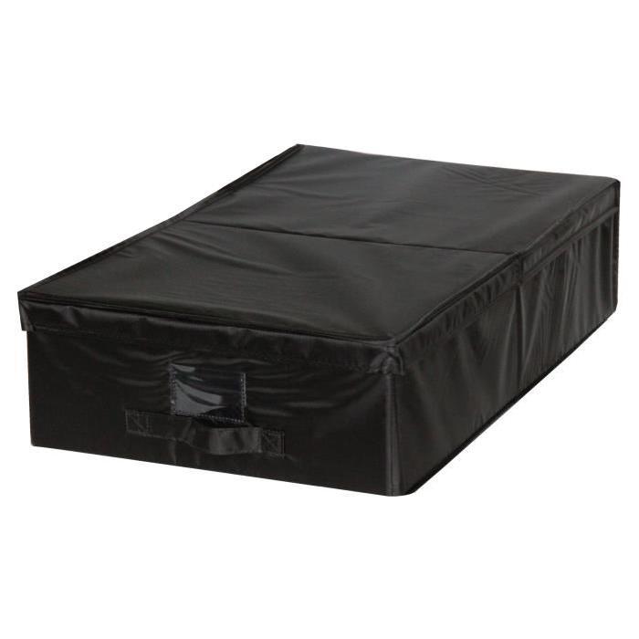 EVE Housse de rangement dessous de lit noir M 40x32x5 cm