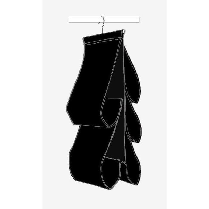 MHOME Rangement multi-usages a suspendre noir