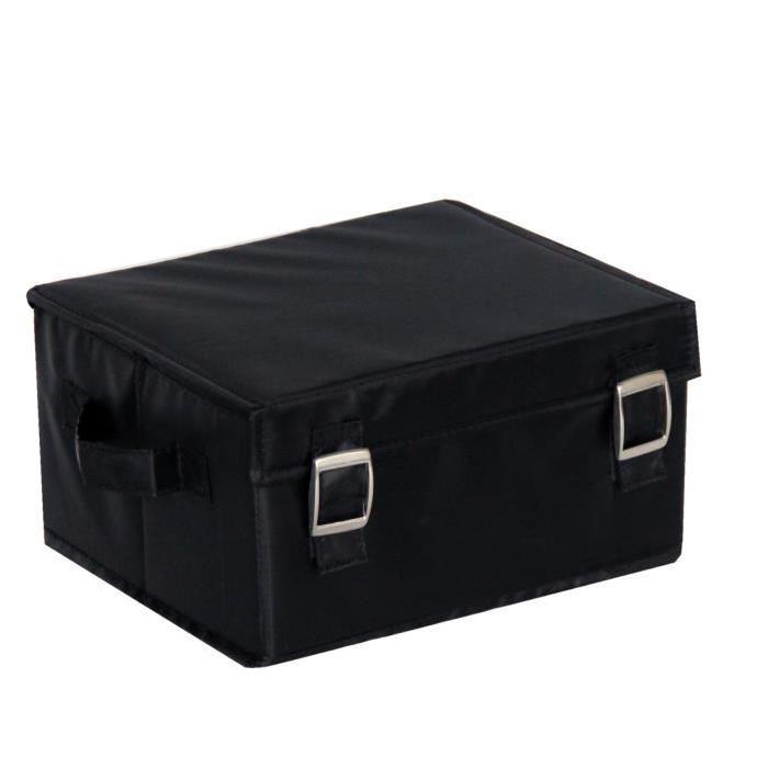 EVE Boîte de rangement medium noir 26x22x14 cm
