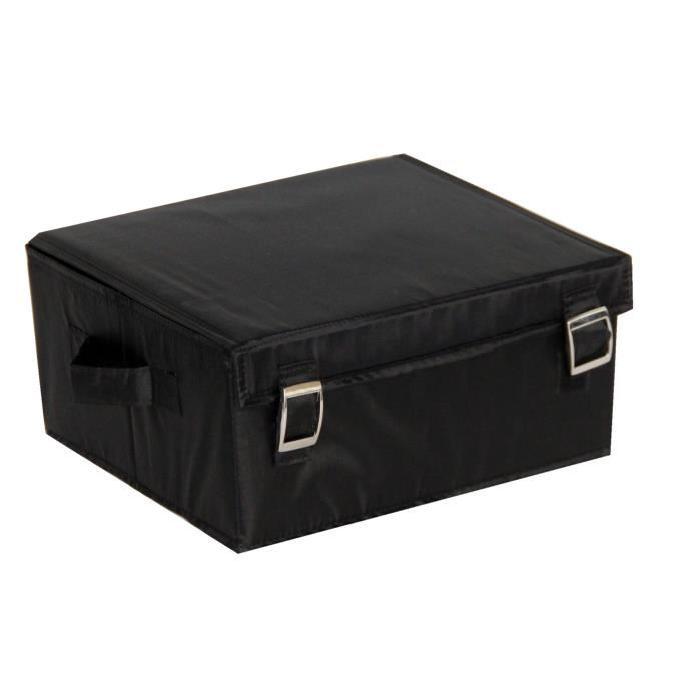 EVE Boîte de rangement large noir 30x26x14 cm
