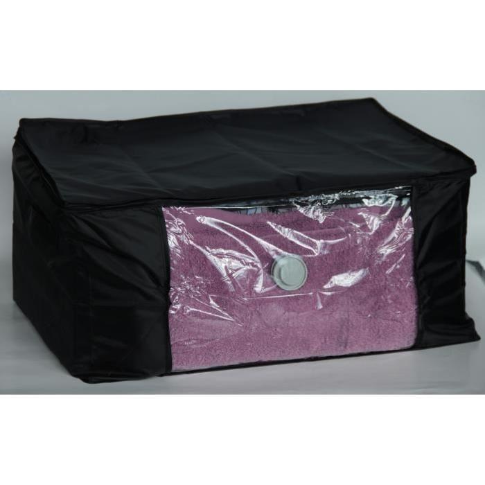 EVE Malle de rangement souple sous vide AIR OFF M noir 60x45x30 cm