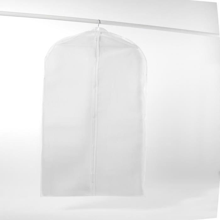 Housse longue MILKY en péva blanc 60x137 cm