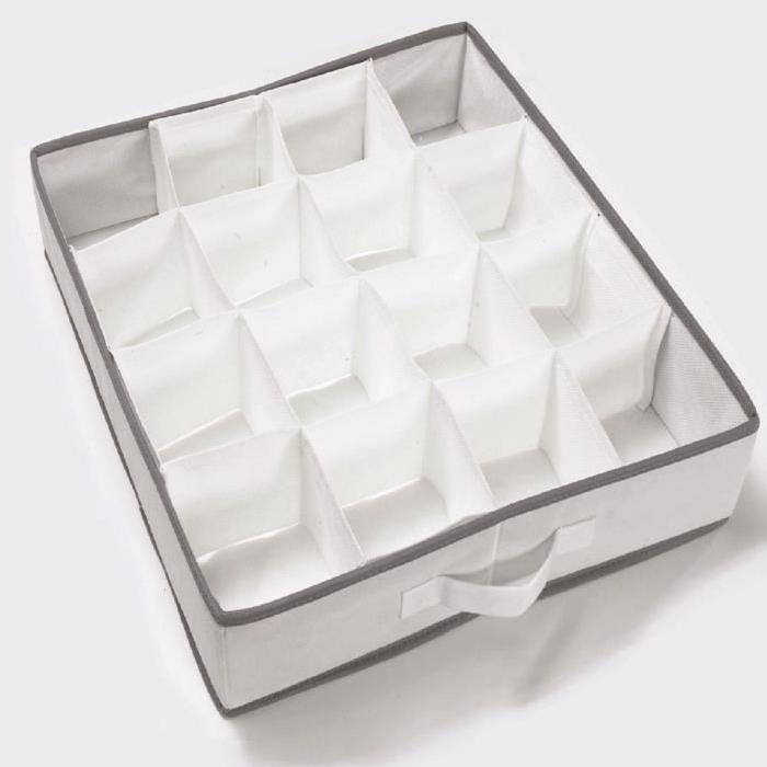 COMPACTOR Séparateur de tiroir WOS blanc 40x40x9 cm