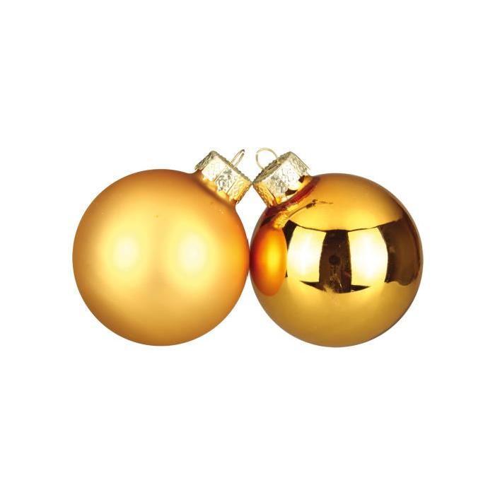 Lot de 30 Boules de Noël or en verre Ř 6 cm
