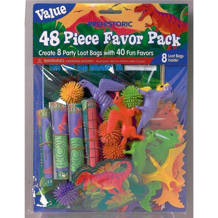 AMSCAN Pack Préhistorique - 48 jouets