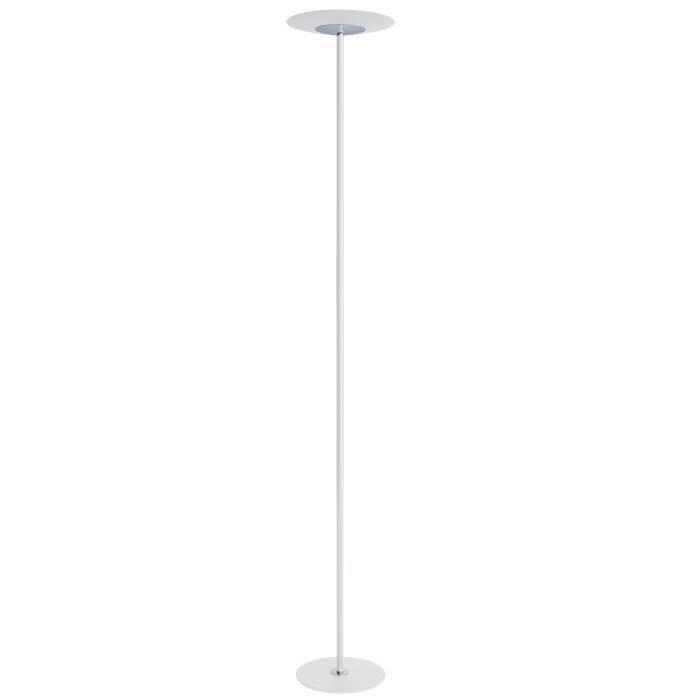 Lampadaire Stan LED 23W hauteur 180 cm blanc et chrome