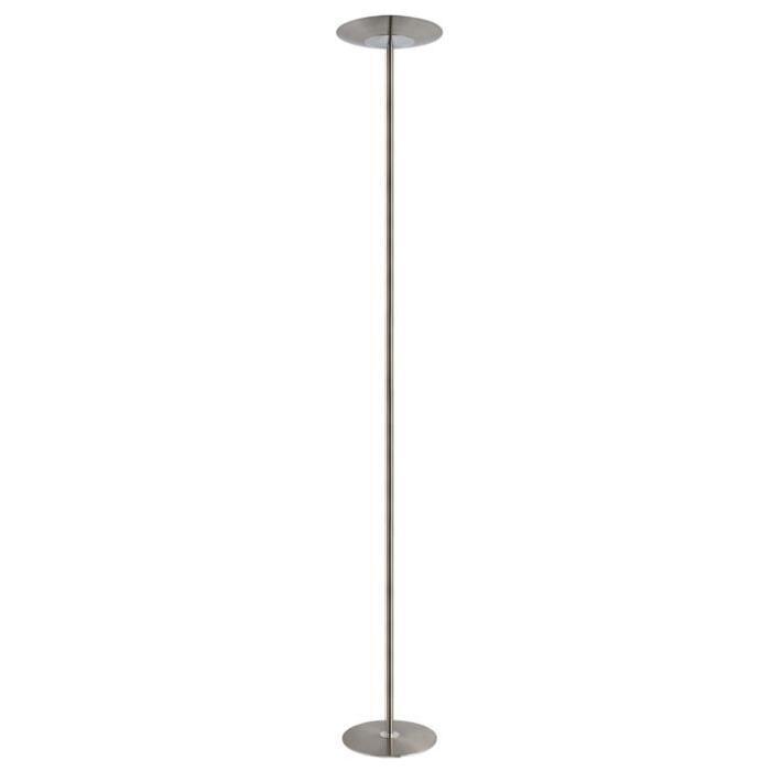Lampadaire Stan LED intégré 23W hauteur 180 cm alu brossé et chrome