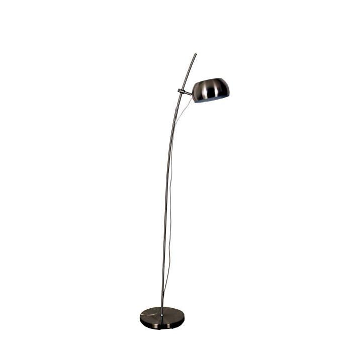 Lampadaire en nickel satiné - H 150cm