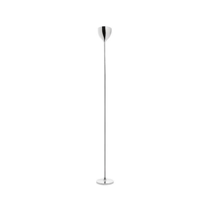 Lampadaire droit finition chromé + vasque PCV - H 181 cm - Ř 20 cm