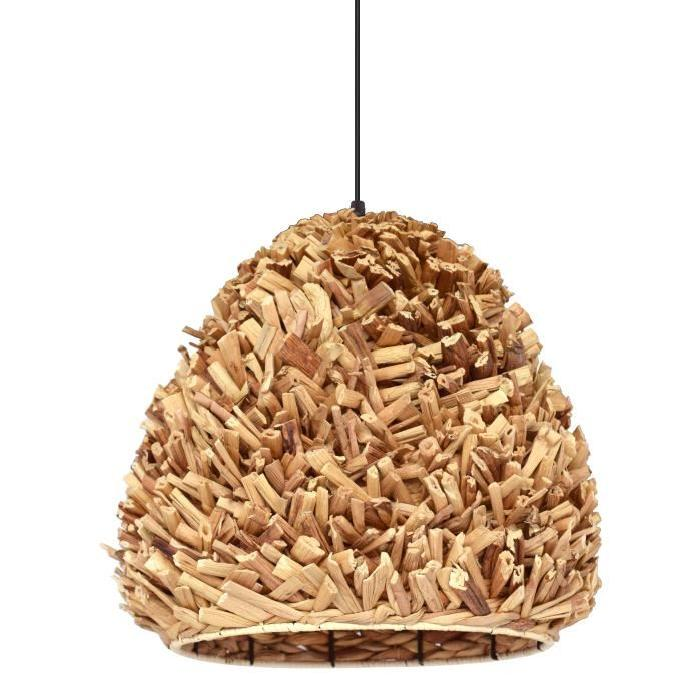 Lustre - suspension Phuket sea grass diametre 30 cm hauteur 35 cm E27 40W naturel