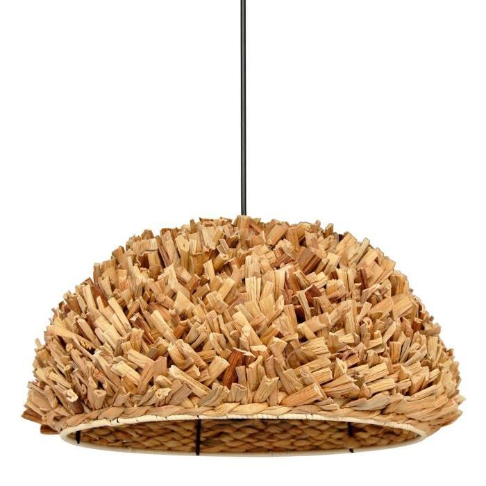 Lustre - suspension Samui sea grass diametre 46 cm hauteur 25 cm E27 40W naturel