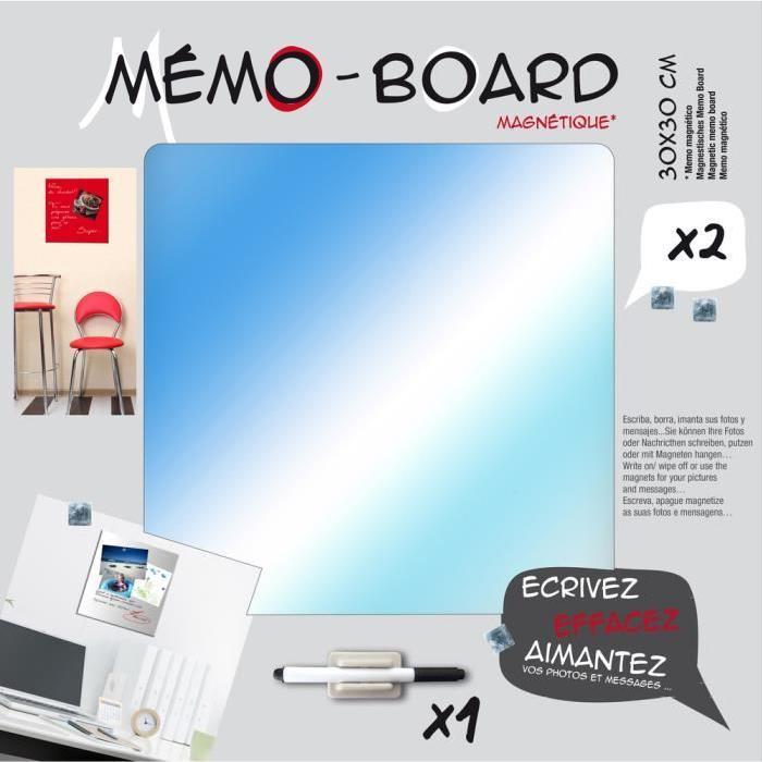 IMAGINE Mémo board magnétique verre miroir 30x30 cm