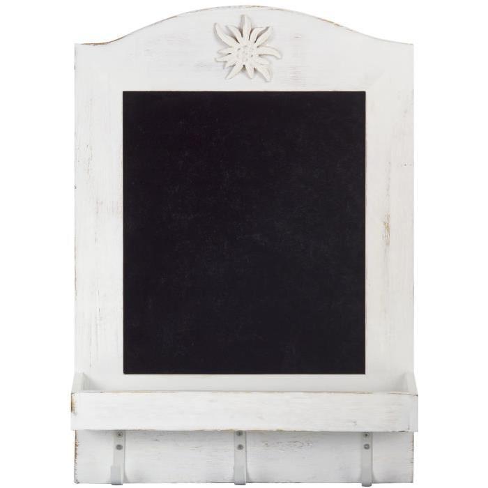 Ardoise avec tablette décor Edelweiss 350 x 62 x 492 mm