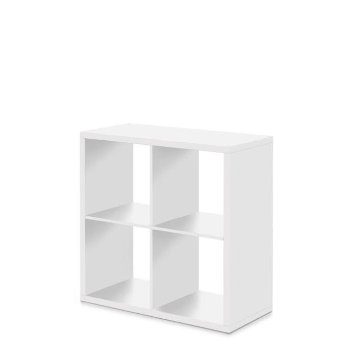 MAX Etagere avec 4 cubes -Style contemporain - Blanc - L 73 cm