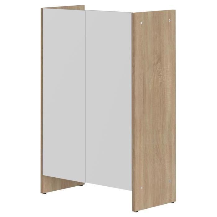 PURE Meuble bas de salle de bain L 60cm - Décor chene et blanc