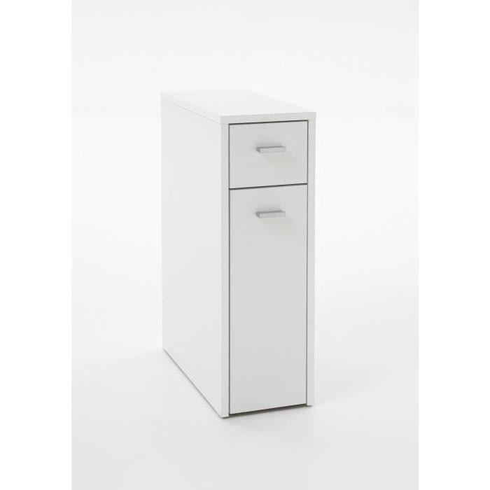 DENIA Meuble de salle de bain L 20 cm - Blanc