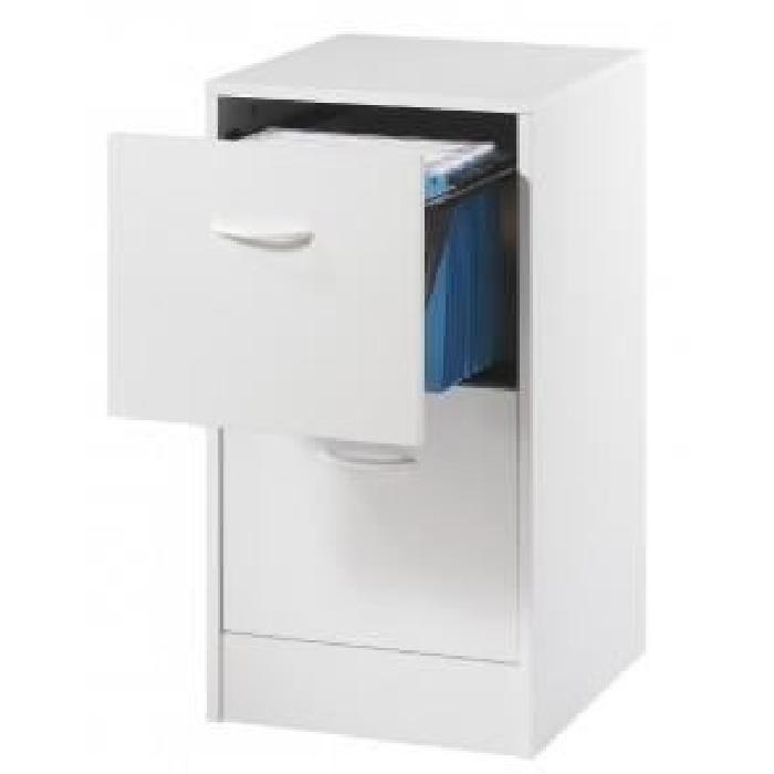 Classeur 2 tiroirs pour dossiers suspendus 41,4 cm - Blanc