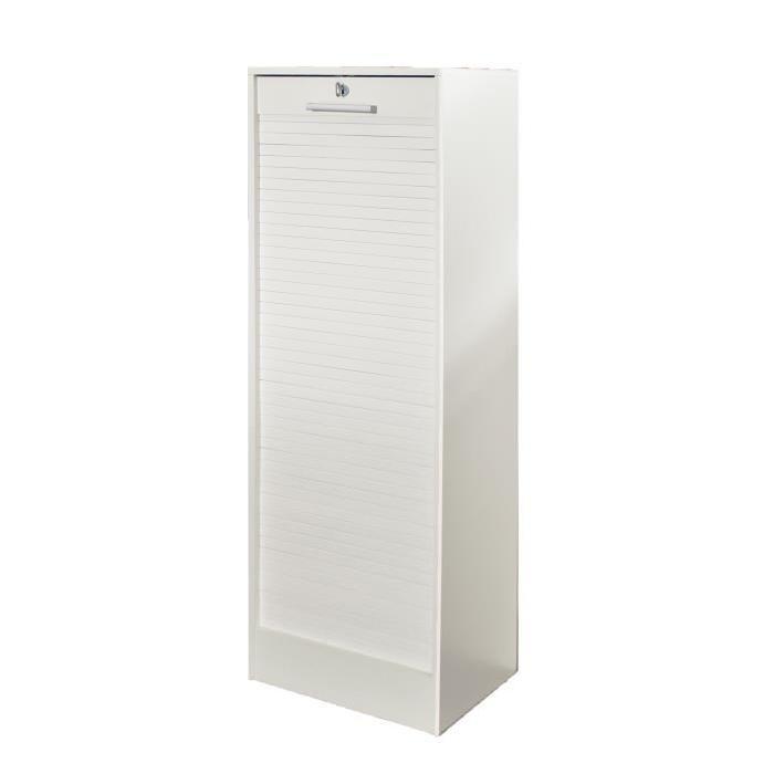 CORTINA Classeur a rideaux contemporain blanc - L 138 cm