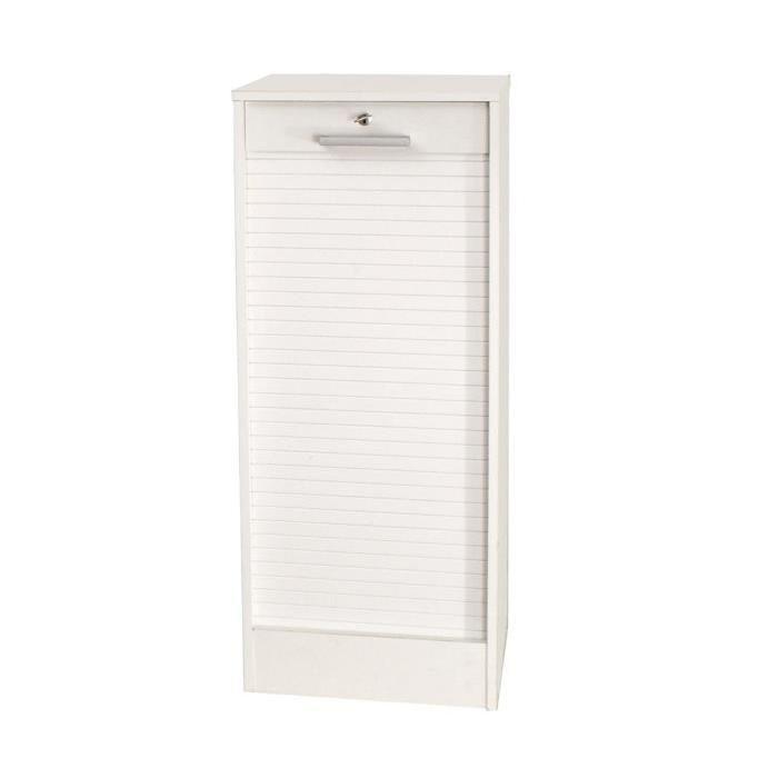 CORTINA Classeur a rideaux contemporain blanc - H 106 cm