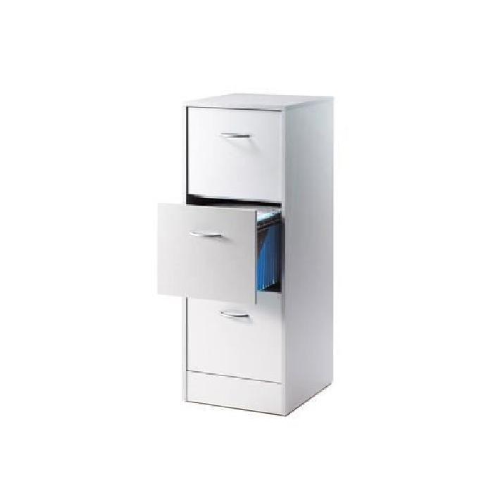 Classeur 3 tiroirs pour dossiers suspendus 41,4 cm - Coloris aluminium