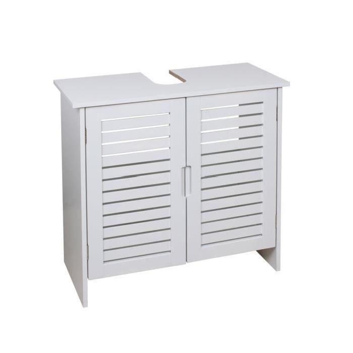 LINDA Meuble sous-lavabo L 60 cm - Blanc