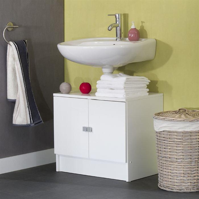GALET Meuble sous lavabo L 60cm - Blanc