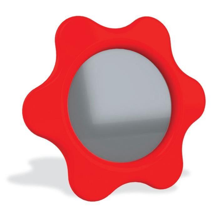 AMBITOYS Miroir de bébé - 3 mois - Multicolore - Plastique - 15 x 1 x 15 cm