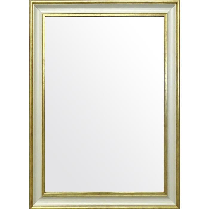 CLASSY Miroir 65x85 cm blanc et doré